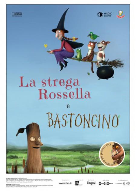 LA STREGA ROSSELLA E BASTONCINO (ROOM ON THE BROOM)